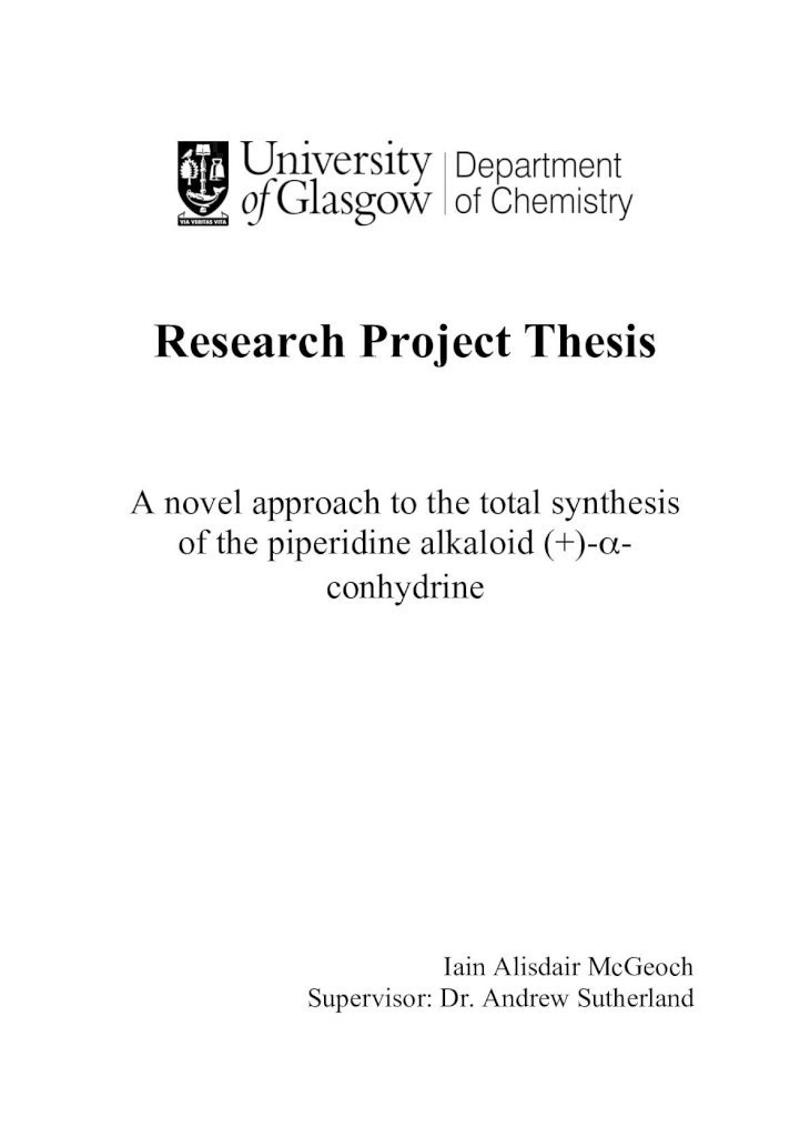 Science projects research paper